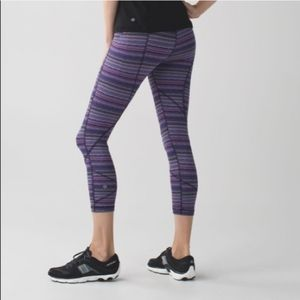 Lululemon Pace Rival Purple Space Dye Crop Legging